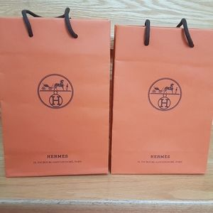 Authentic Hermes gift bags x2